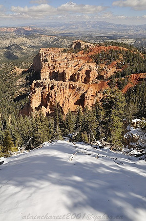 First snow on Bryce Canyon