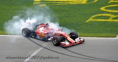 Kimi Räikkönen at the air-pin exit.