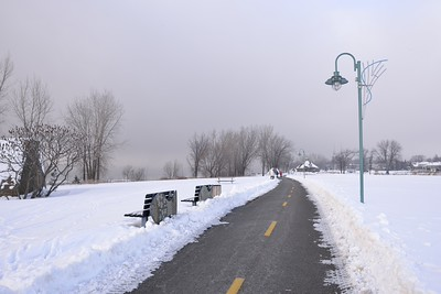 Parc de la Commune en hiver