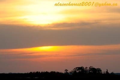 Sunset on North Bay marsh